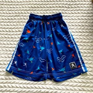 EUC BOYS NARWHAL LACROSSE SHORTS SIZE SMALL